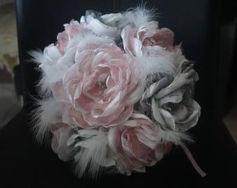 Petal organza flower bridal bouquet