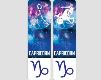 Capricorn Zodiac Sign Indestructible waterproof bookmark