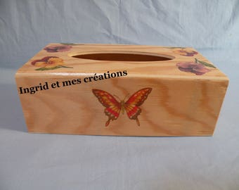 Decorated with thoughts and Butterfly tissue box