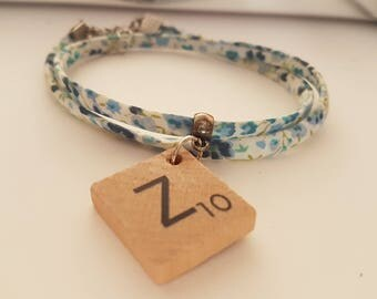 Bracelet double rounds Liberty - Scrabble - Z