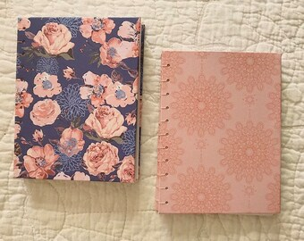 Floral Purple | Pink Detailed Hardcover Lined Notebook Bundle (2)