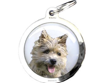 Dog Medal CAIRN TERRIER - chrome