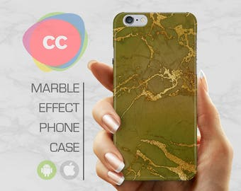 Green Marble - iPhone 8 Case - iPhone 7 Case - iPhone X, iPhone 8 Plus, 7, 6, 6S, 5S, SE Cases - Samsung S8, S7, S6 Cases - PC-326
