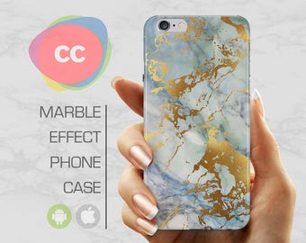 Green Gold Marble - iPhone 8 Case - iPhone 7 Case - iPhone X, iPhone 8 Plus, 7, 6, 6S, 5S, SE Cases - Samsung S8, S7, S6 Cases - PC-336