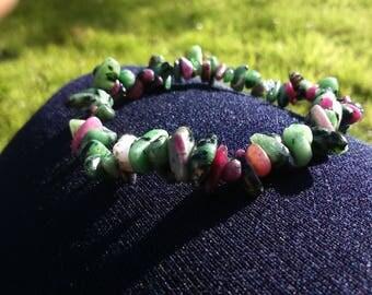 Elastic bracelet Rubis Zoisite natuel