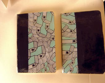 Set of 2 small notebooks 80 pages