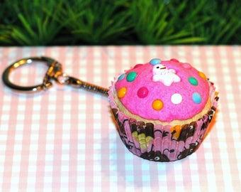 Door keys/bag fancy Strawberry Cupcake charm