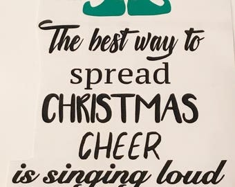 Buddy the Elf The Best Way To Spread Christmas Cheer Is Singing Loud For All To Hear Christmas Vinyl | Buddy the Elf Vinyl | Christmas Box