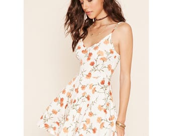 Forever 21 Orange Carnation Dress