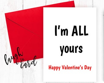Funny valentine's card, Boyfriend Card, girlfriend card, funny, rude cards, valentines, for him, wife, husband