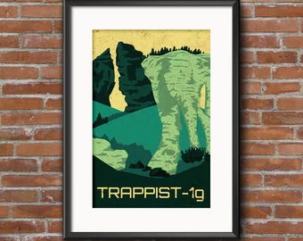 TRAPPIST-1G 12 x 18 Poster