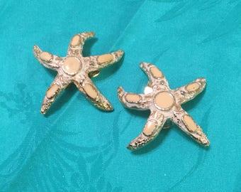 Star Fish Ear Clips