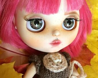 Blythe doll, Custom blythe doll, Makeup blythe doll, OOAK blythe, Custom doll,  Blythe TBL, Interior doll, Blythe handmade