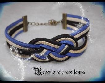 "Bracelet suede sailor knot ""elliot"""