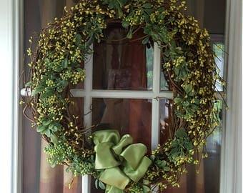 Spring, Summer, St. Patrick's Day Wreath