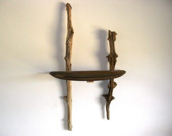 Nice console of oak and Driftwood