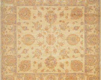 Ziegler Sultanabad Rug, 8'2''x8'2'' Square, Beige/Beige, All wool pile
