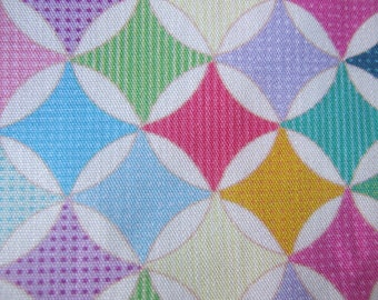 fabric 100% cotton vintage geometric pattern