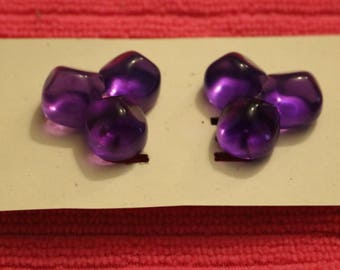 Lucite Grape Earrings