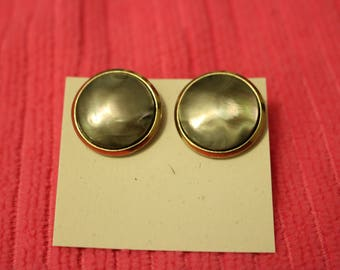 Button Screw Back Earrings