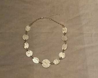 926 Sterling Silver Hammered Coin Necklace