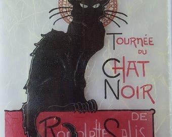 """Cat"" decor glass trivet"