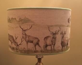 Large Handmade Red Deer Lampshade