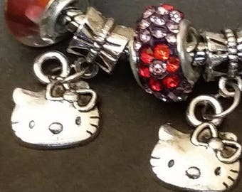 Hello Kitty Silver Bracelet with Toggle Closure