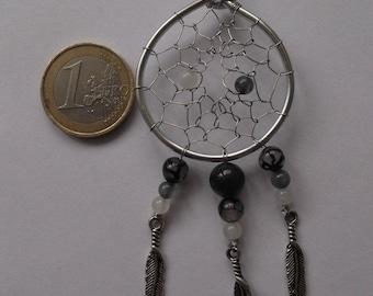 Pendant in silver and semi - precious 1 dream attapeur