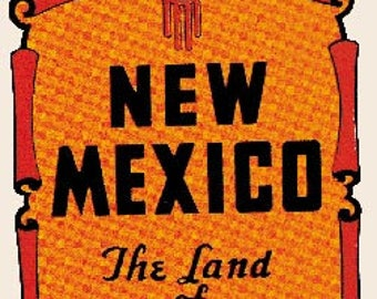 Vintage Style New Mexico The Land of Enchantment Travel Decal sticker