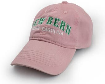 New Bern Embroidered Hat, Pink