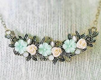 Pastel rose necklace