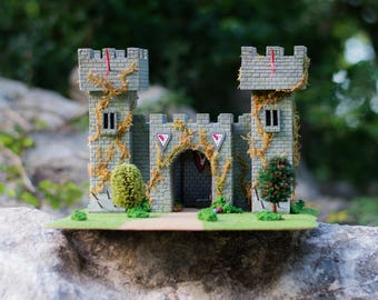 The Castle - Wargaming Terrain, RPG Warhammer, Dungeons and Dragons, Tabletop Gaming, Warhammer 40K, 28mm Terrain, D&D, Medieval Castle,