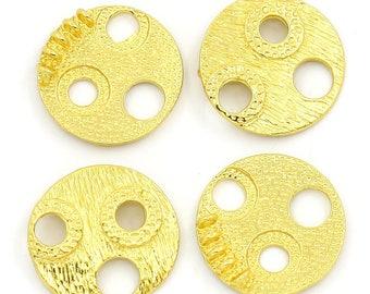 Round design gold metal (x 2) connector