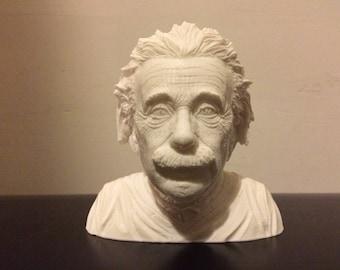 Einstein bust 3d miniature printed with very fine detail