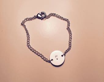 Customizable silver bracelet-Circle