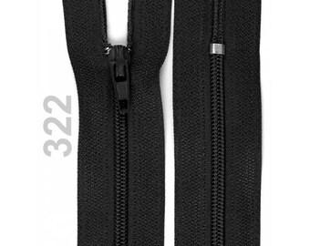 black nylon closure size 12 cm