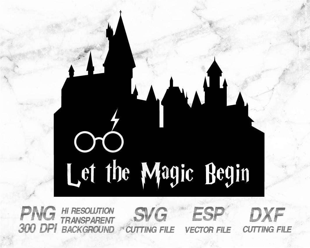 Silhouette Outline Harry Potter Clipart Black And White Rectangle Circle