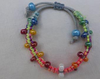 Rainbow one macrame bracelet