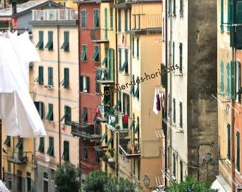 Italian VILLAGE photograph, Mediterranean charm