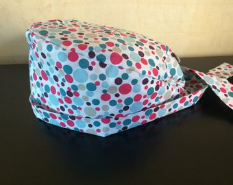 Operating Hat * Hat * Bubbles * Fuchsia * Turquoise