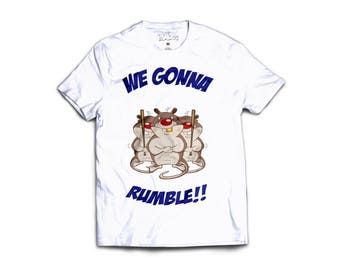 Ready to Rumble streetwear graphic tee handmade cotton tee