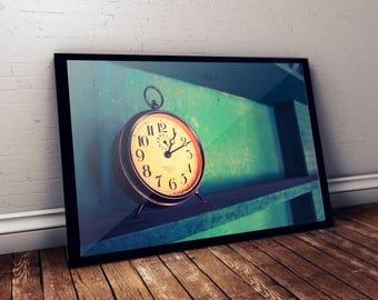 16x24 Vintage Clock Print