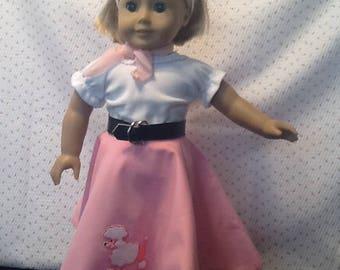Vintage Style Poodle Skirt