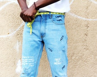 Denim custom jeans