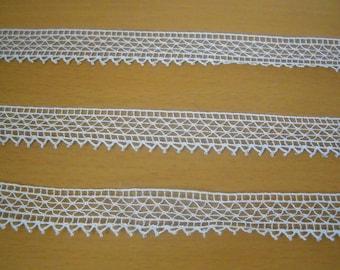 4 metres - Fine lace antique Ecru... Creation, decor