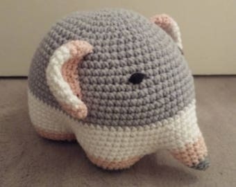 TRICOLOR - crocheted ELEPHANT