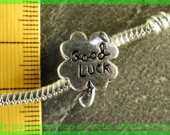 Pearl European N20 clover good luck charms bracelet