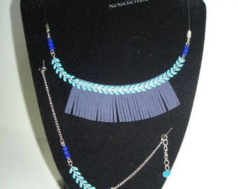 adornment necklace spike suede chain bracelet