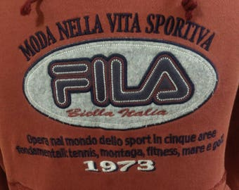FILA Big Logo Embroidery Sweatshirt,size M